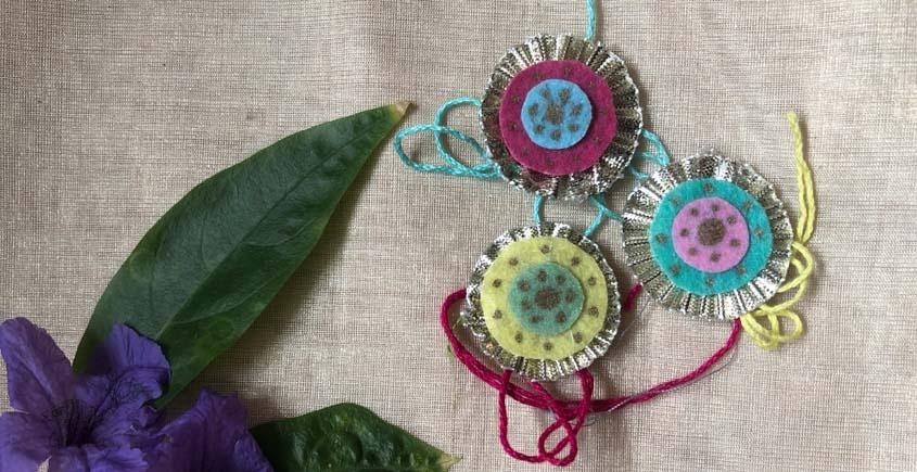 Felt Handmade rakhi