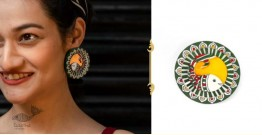 Fudakti ♥ Shafri Madhubani Handmade Wood Earring ♥ 2