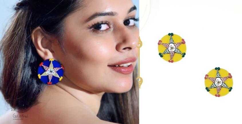 Fudakti ♥ Machhli Jal Ki Rani Madhubani Handmade Wooden Earring ♥ 8