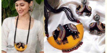 Fudakti ♥ Moh Madhubani Wooden Handcrafted Necklace Set ♥ 34