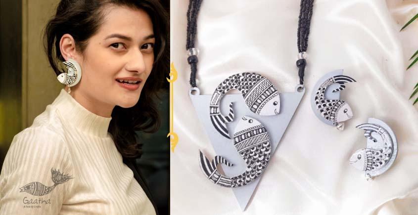 Fudakti ♥ Surmai Madhubani Handcrafted  Necklace Set ♥ 35