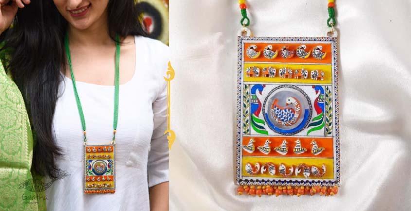 Fudakti ♥ Mohini Handprinted Madhubani Handcrafted Necklace ♥ 42