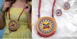 Fudakti ♥ MORNI MADHUBANI Handcrafted  Necklace Set ♥ 45