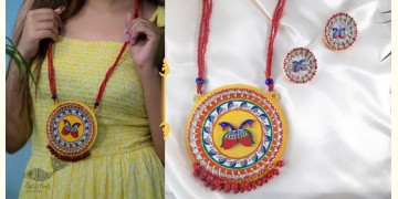 Fudakti ♥ MORNI MADHUBANI Handcrafted  Necklace Set ♥ 45