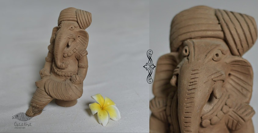 Terracotta Handmade Clay Eco friendly ganesha