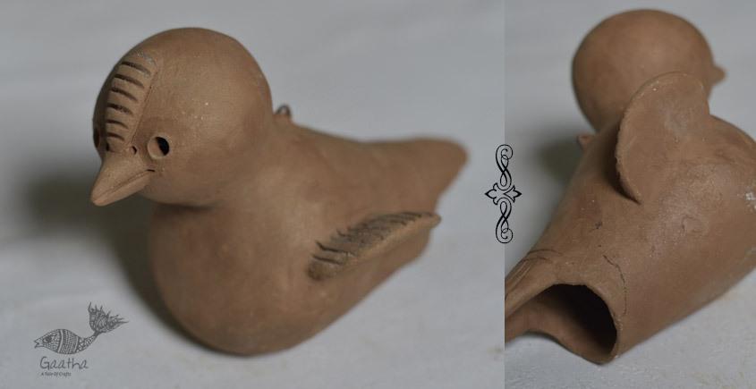 Terracotta Handmade Clay bird nest hanging