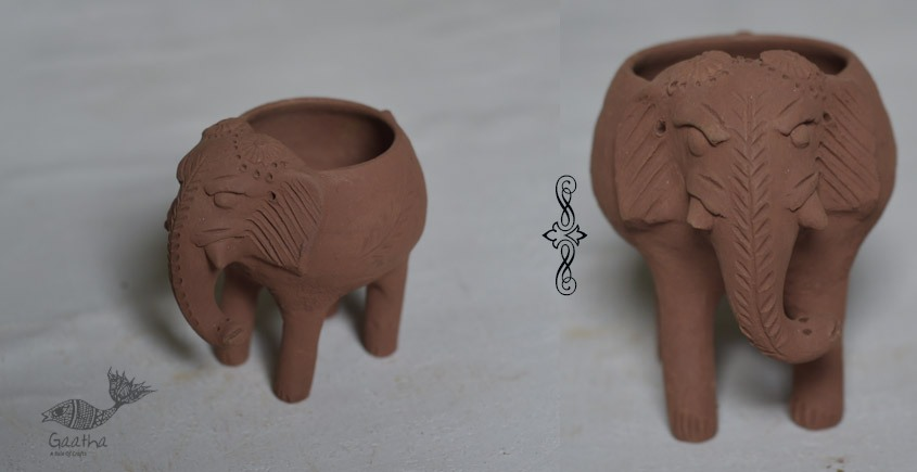 Terracotta Handmade elephant planter