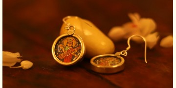 देवसेना * Miniature Painting . Earring * Sarasvati