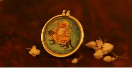देवसेना * Miniature Painting . Pendant * Ganesha with Mushak
