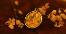 देवसेना * Miniature Painting . Pendant * Ardhnarishvara