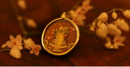 देवसेना * Miniature Painting . Pendant * Shrinathji {B}