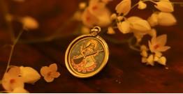 देवसेना * Miniature Painting . Pendant * Sarasvati (B-L)
