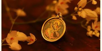 देवसेना * Miniature Painting . Pendant * Sarasvati (B-R)