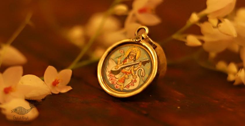 देवसेना * Miniature Painting . Pendant * Sarasvati (S-L)