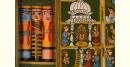 कथनिक ☀ Kaavad a Wooden Shrine ( Green - 29 cm) ~ 115