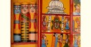 shop online wooden mobile temple for your home - yellow