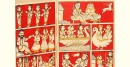कथनिक ☀ A Wooden Shrine Wooden Kaavad ( Red - 41 cm) ~ 133