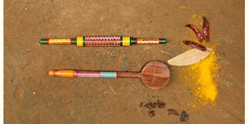 Rasoi ✼ Kutch lacquer ladles { Set of Two } 40