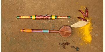 Rasoi ✼ Kutch lacquer ladles { Set of Two } 40