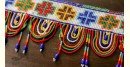 Gujarat coloful bead design door toran