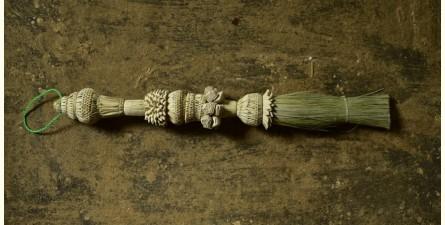 Khajuri . खजुरी  ▣ Date Leaves Broom ▣ Wall Hanging ▣ 1