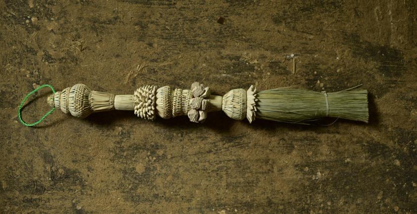 designer date leaves broom - wall handing - 1