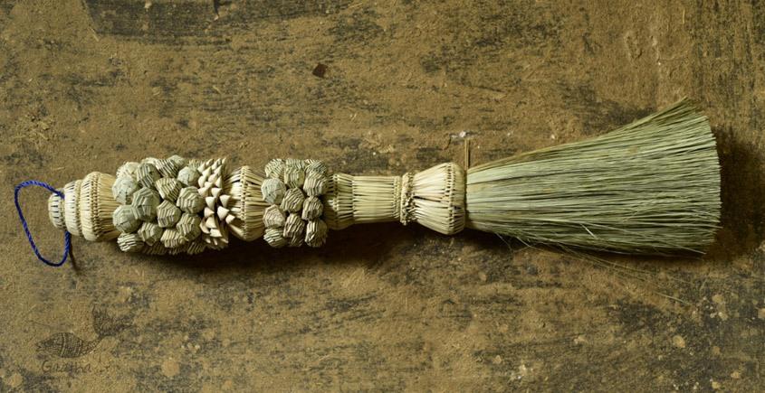 decorative handmade date leaves broom - wall handing