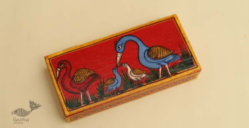 buy online pencil box, wooden storage box - Han painted