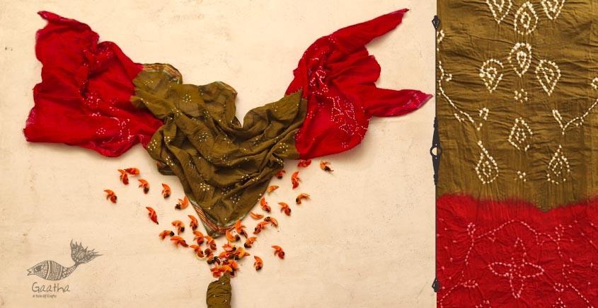 पलाश ❈ Cotton Bandhani Dress Material ❈ 1
