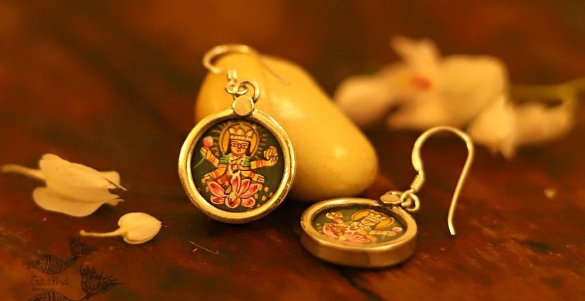 देवसेना * Miniature Painting . Earring * Lakshmi {B}