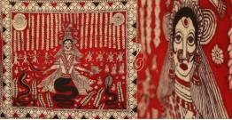 """Sacred cloth of the Goddess- Nageshvari Maa ( 60"""" x 68"""")"""