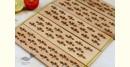 Purnak ✼ Udayagiri Wooden Table Mat { Set of 2 }✼{ 22 }