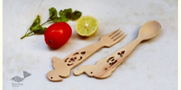 Purnak ✼ Udayagiri Wooden Cutlery - Set of Tow ✼ { 19 }