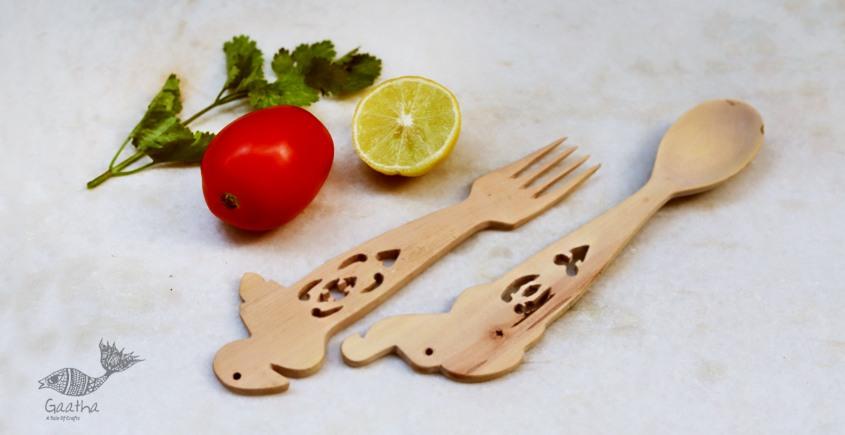 Purnak ✼ Udayagiri Wooden Cutlery - Set of Tow ✼ { 19 }