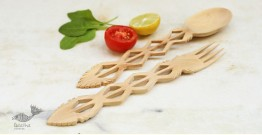 Purnak ✼ Udayagiri Wooden Cutlery - Set of Tow ✼ { 4 }
