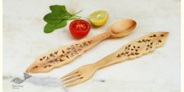 Purnak ✼ Udayagiri Wooden Cutlery - Set of Tow ✼ { 2 }
