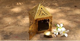 Ahar ✽ Brass ~ A Lamp with Diya ( Set of Two ) -  3