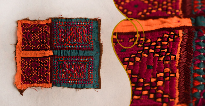 Old Pieces of Sindh ❂ Hand Embroidered Antique Pieces ❂ 75