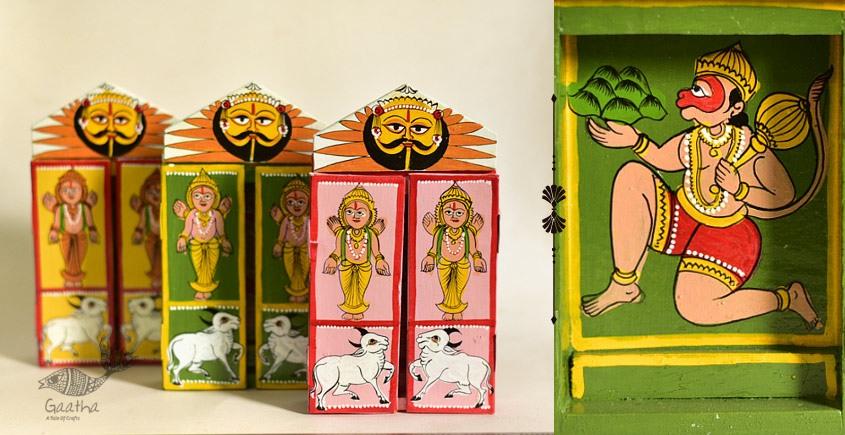 कथनिक ☀ Kaavad a Wooden Shrine - Hanuman { Single piece } ~ 4