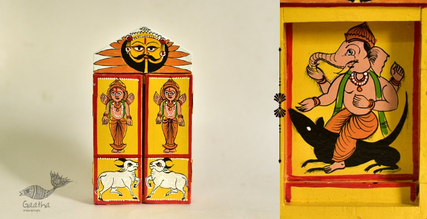 shop online wooden kaavad single piece - Ganesh &  Mushak