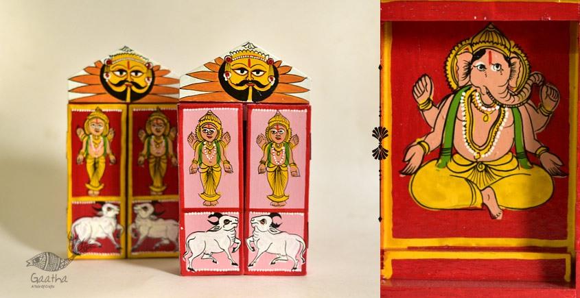shop online wooden kaavad single piece - Gajaanand