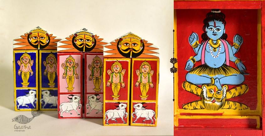 कथनिक ☀ Kaavad a Wooden Shrine - Shankar { Single piece } ~ 2
