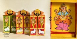 कथनिक ☀ Kaavad a Wooden Shrine - Laxmi { Single piece } ~ 1