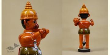 Etikoppaka ♡ Wooden Toy ♡ Lord Hanuman ( 16x6x6 cm)