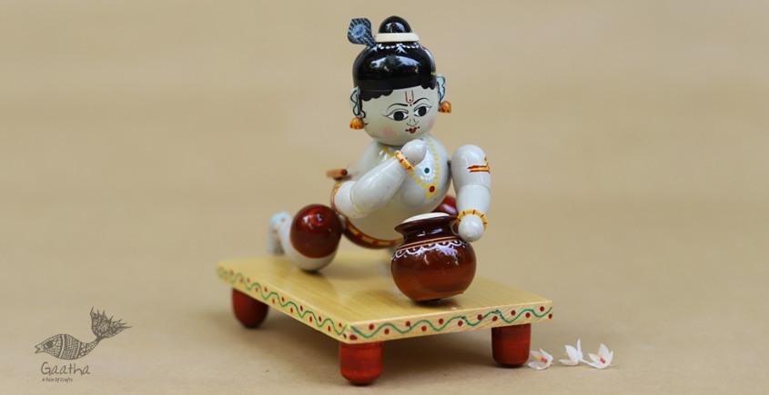Etikoppaka ♡ Wooden Toy ♡  Bal Krishna (15x12x8 cm)
