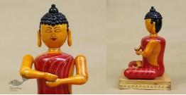 Etikoppaka ♡ Wooden Toy ♡ Buddha (  24 x14 cm )