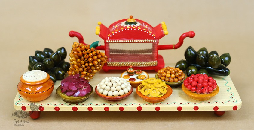 Space Accessories - Table Top - Wooden Toy - Sari Set