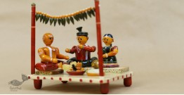 Etikoppaka ♡ Wooden Toy ♡ Indian Wedding ( 17x14x19cm )