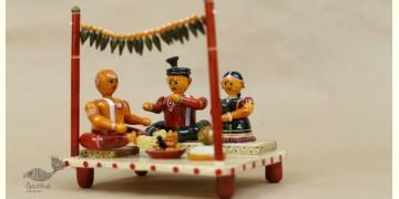 Etikoppaka ♡ Wooden Toy ♡ Indian Wedding ( 17x14x19cm )