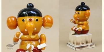 Etikoppaka ♡ Wooden Toy ♡ Bal Ganesha ( 15x7x7cm )